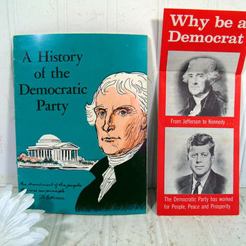Vintage Political Booklets - A History of the Democratic Party & Why Be a Democrat Pamphlet Publications by the DNC - John F. Kennedy Era