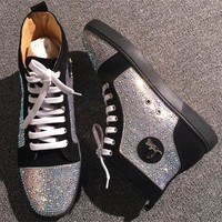 Cl Christian Louboutin Rhinestone Style #1962 Sneakers Fashion Shoes - Best Deal Online