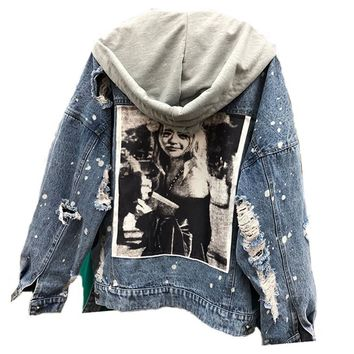 db52458f6 Shop Hooded Jean Jacket on Wanelo
