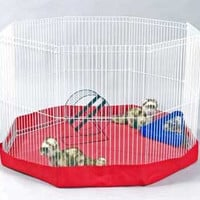 Floor Mat & Cover For 8 - panel Wire Ferret Playpen