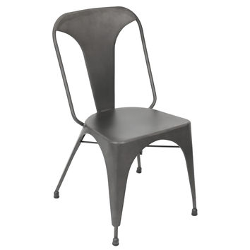 Lumisource Pair of Austin Dining Chairs in Matte Grey