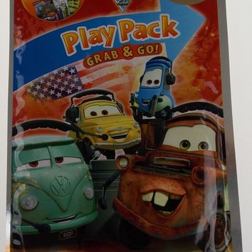 Disney Pixar Cars Play Pack Lot 10 Grab & Go Coloring Book Crayons Stickers NEW