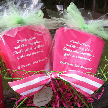 Pearls and Class Solo Cup Koozie in Pink