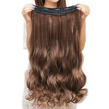 Heat Resistant Hairpiece Natural Wavy Hair Piece