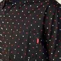 Stussy Hustler Button-Down Shirt- Black