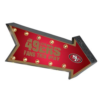San Francisco 49ers Sign Marquee Style Light Up Arrow Design