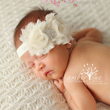 de81a75a5 Best Ivory Christening Headbands Products on Wanelo