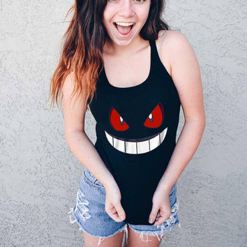 pokemon gengar tshirt tanktop t shirt shirt for women and men tshirt