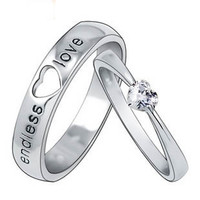 Gullei Trustmart : Customized Engravable Endless Love Matching Heart Wedding Couple Ring [GTM00278] - $80.00 - Couple Gifts, Cool USB Drives, Stylish iPad/iPod/iPhone Cases & Home Decor Ideas