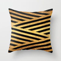 Gold and Black Throw Pillow by Dizzy Moments | Society6