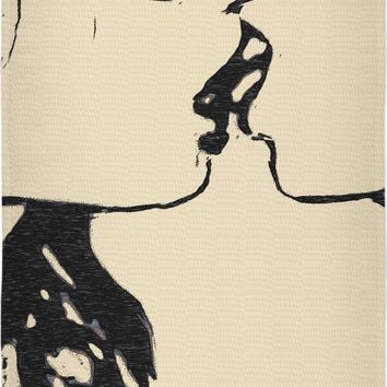 Slaves in love, abstract erotic, lesbian girls kissing, naughty submissive woman beach towel