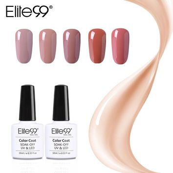 Elite99 Gel Polish Varnish UV LED Gorgeous Nude Color Series UV Gel LED Lamp Nail Art Design Hot Sale Nail Gel Lacquer