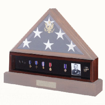 Medal Display Case , Pedestal , Medal Holder, Hand Made By Veterans