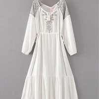 Fashion embroidery embroidered dress