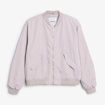 Monki | Just added | Ruched seam bomber jacket