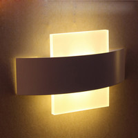 8W Modern Led Wall Lamps Acrylic For Bed Room Wall Light Living Sitting Room Foyer Bathroom Led Wall Mounted Sconce Ac220V