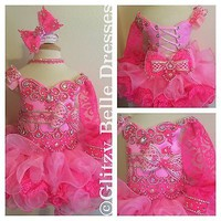 CUSTOM Glitz Pageant Dress To Be Made To Size And Style Needed. National Level.