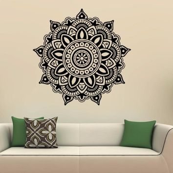 Mandala Flower Indian Bedroom Wall Decal Art Stickers Mural Home Vinyl Family wall stickers home decor