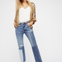 Free People 501 Original Patched Denim