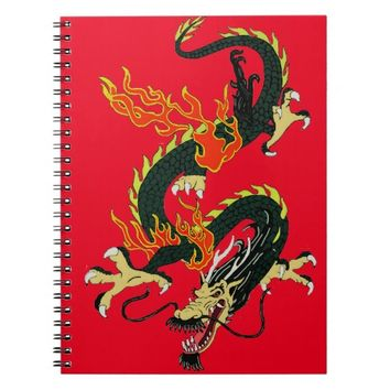 Black Chinese Dragon Notebook