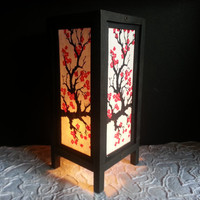 Sakura flower mulberry paper table lantern for home decorate or bedroom lighting