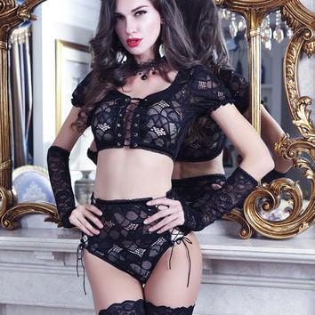 On Sale Hot Deal Cute Luxury Lace Sexy Dress Uniform Exotic Lingerie [6596135363]