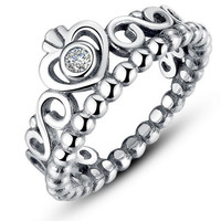 Queen Crown Ring 925 Sterling Silver Ring Pandora