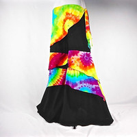 Wide Leg Pants, Upcycled Clothing, Rainbow Tie Dye, Boho Clothing, Festival Pants, Flare Pants, Gypsy Clothing, Hippie Clothes, Hippie Pants