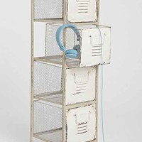 Caged Locker Cabinet - White One
