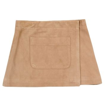 Sonia Rykiel Girls Leather Beige Skirt