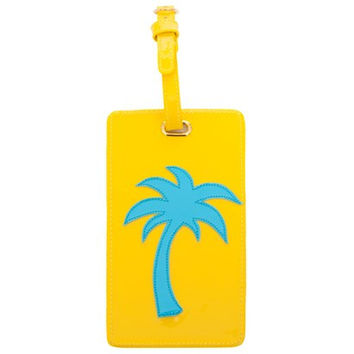 LoloBag - Luggage Tag / Turquoise Palm Tree