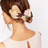 Erin Elizabeth For Johnny Loves Rosie Una Floral & Feather Hair Clip