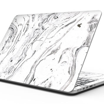 Mixtured BW Textured Marble - MacBook Pro with Retina Display Full-Coverage Skin Kit