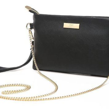 ONETOW Aitbags Soft PU Leather Wristlet Clutch Crossbody Bag with Chain Strap Cell Phone Purse