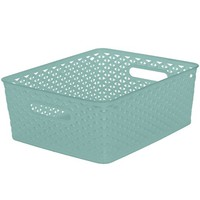 "Y-Weave 11"" Cube - Turquoise - Room Essentials™"