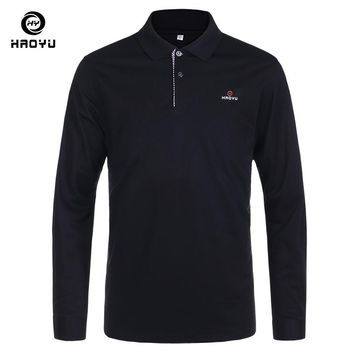 2016 New Men Brand Clothes Solid Polo Shirt Regular Slim Long Sleeve Anti-Wrinkle 11 Color Choice Factory Direct Sale Haoyu