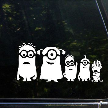 Minion Family Car Window Ipad Tableet PC Notebook Cumputer Decal Sticker