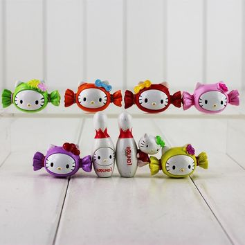 Mini 8pcs/lot Hello Kitty Candy Model Dolls Mini KT Cat PVC Toys Kawaii Hello Kitty Action Figures Toys