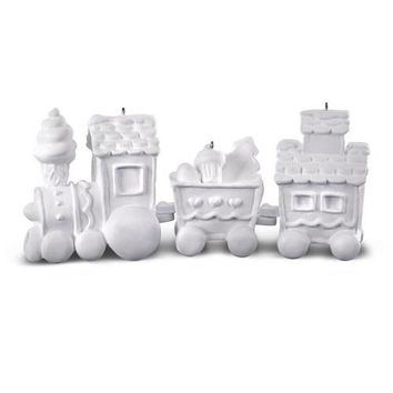 Make-Your-Own Train DIY Ornament Kit, 3 Pieces