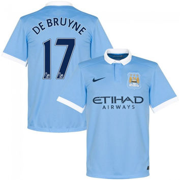De Bruyne Jersey Manchester City 15-16  for kids, boys and youth