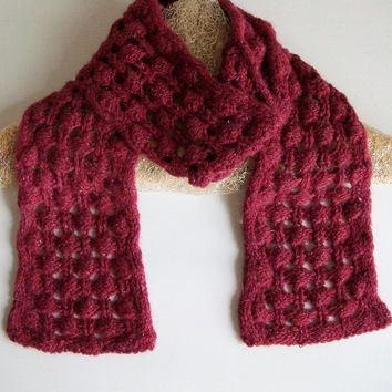 Bobble Lace Scarf Pattern Briar Berry Easy Knitting