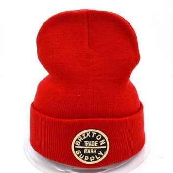 Brixton Women Men Embroidery Beanies Warm Knit Hat Cap-3