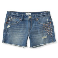 Aeropostale  NEW! Studded Denim Midi Shorts
