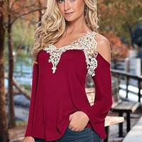 Crochet bell sleeve top by VENUS