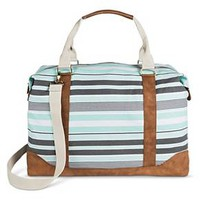 Women's Multi Striped Canvas Weekender with Removable Crossbody Strap Mint - Merona™