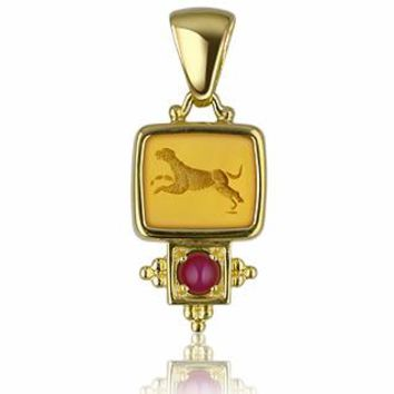 Tagliamonte Designer Necklaces Classics Collection - 18K Gold and Ruby Pendant