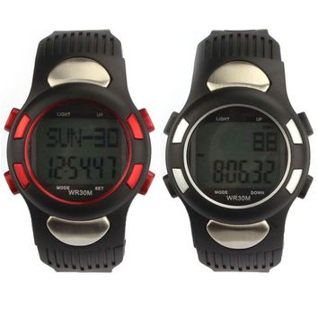 1pc High Quality Fitness 3D Pedometer Calories Counter Sport Watch Pulse Heart Rate Monitor Gift#