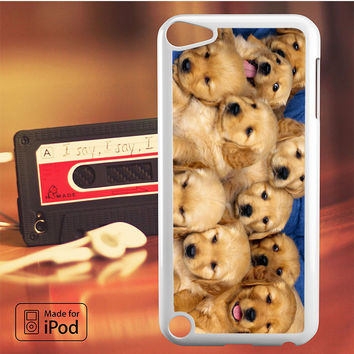 Cute Golden Puppies iPod Touch 4 Case, iPod Touch 5 Case, iPod Touch 6 Case