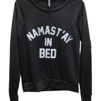 Namast'ay in Bed Pullover - Black