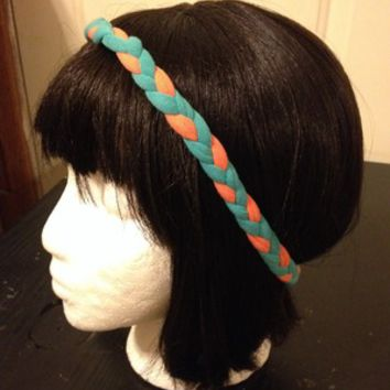 Braided multi color headband from Nicole Ray